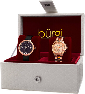 Burgi Women's Set Of Two Watches
