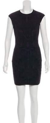 Alexander McQueen Embroidered Mini Dress black Embroidered Mini Dress