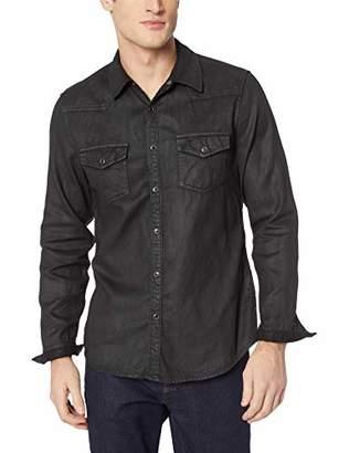 GUESS Men's Long Sleeve Slim Western Shirt
