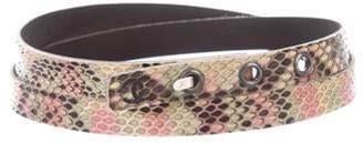 Chanel Snakeskin Waist Belt multicolor Snakeskin Waist Belt
