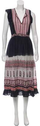 Ulla Johnson Tie-Dye Midi Dress
