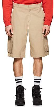 Martine Rose MEN'S COTTON OVERSIZED CARGO SHORTS - BEIGE/TAN SIZE S