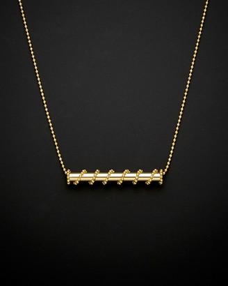 Italian Gold 14K Horizontal Tube Necklace