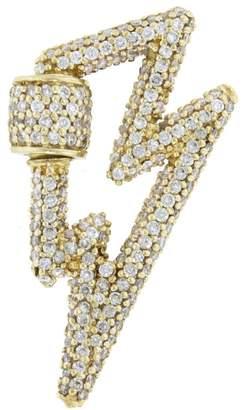 Marla Aaron All Stone Diamond Bolt Lock - Yellow Gold