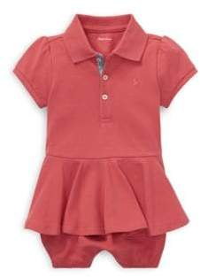 Ralph Lauren Baby Girl's Cotton Peplum Romper