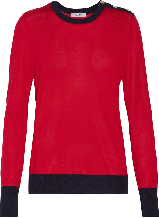 EquipmentEquipment Ondine silk and cashmere-blend sweater