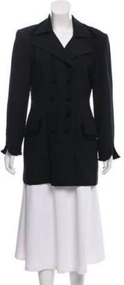Christian Dior Wool Peaked-Lapel Blazer
