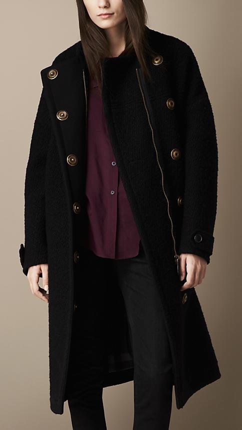 Burberry Oversize Textured Wool Coat