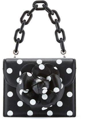 Oscar de la Renta Tro Mini Polka Dot-Print Crossbody Bag