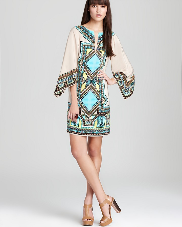 Alice & Trixie Printed Dress - Hailey Batwing