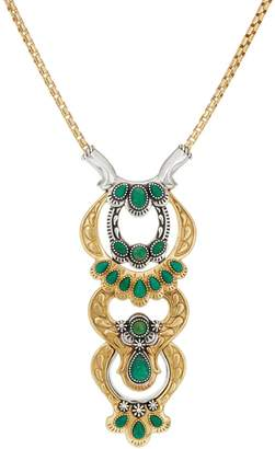 "American West Luna Gemstone Sterling Brass Changeable 18"" Necklace"