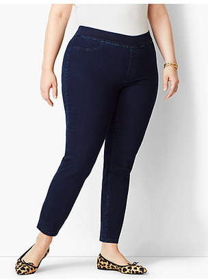 Talbots Plus Size Exclusive Comfort Stretch Pull-On Denim Jeggings - Rinse Wash