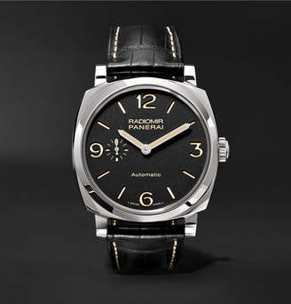 Panerai Officine Radiomir 1940 3 Days Automatic Titanio 42mm Stainless Steel and Alligator Watch