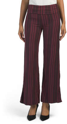 Juniors Vertical Stripe Palazzo Pants