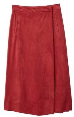 MANGO Midi wrap skirt