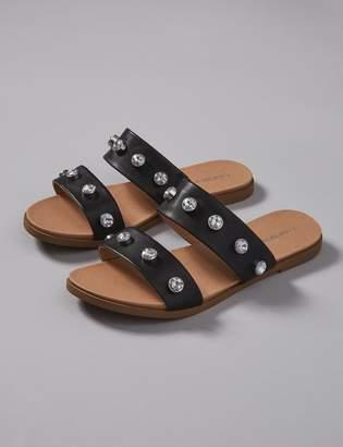 Embellished 2-Band Sandal