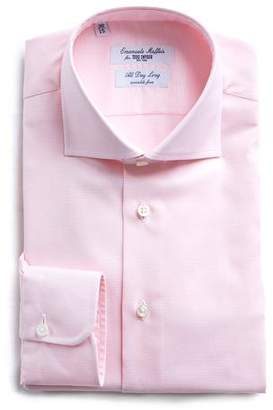 Todd Snyder Emanuele Maffeis + Maffeis No Wrinkle Dress Shirt Pink Nailhead Solid