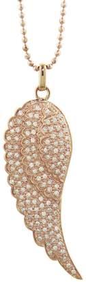 Sydney Evan Single Diamond Wing Necklace - Rose Gold