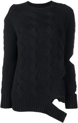 Zoe Jordan cut-out detail jumper