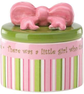 Kohl's Merry Go Round Little Girl With A Curl Striped Trinket Box