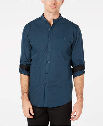 INC International Concepts I.n.c. Men's Band-Collar Utility Shirt