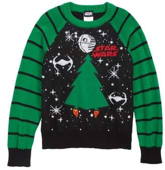 JEM Star Wars(TM) Removable Patch Holiday Sweater