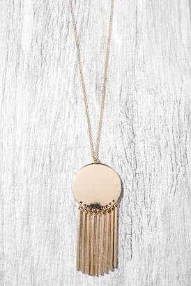 South Moon Under Long Pendant Disk Bar with Fringe