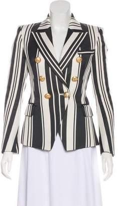 Balmain Structured Striped Blazer