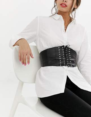 Pieces Studded Corset Belt