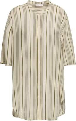 Anine Bing ストライプ シルククレープデシン シャツ