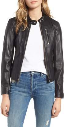 Schott NYC Lambskin Leather Moto Jacket
