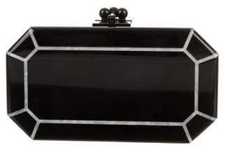 Edie Parker Glitter Jean Box Clutch Black Glitter Jean Box Clutch