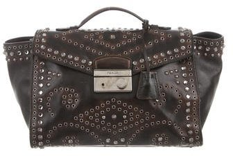 prada Prada Vitello Vintage Embellished Sound Bag