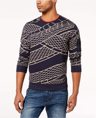 Sean John Men's Flight Snake-Print Sweater, Created for Macy's