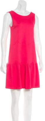 RED Valentino Scoop Neck Mini Dress