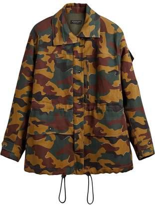 Burberry Boyfriend Fit Camouflage Print Jacket