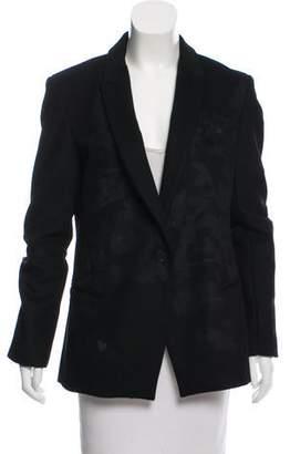 Tess Giberson Virgin Wool Shawl-Lapel Jacket