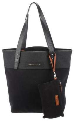 WANT Les Essentiels Leather-Trimmed Felt Tote w/ Tags