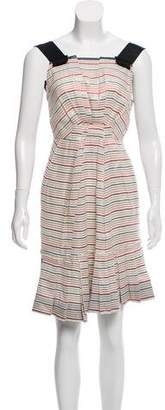 Marc Jacobs Pleated Sleeveless Dress