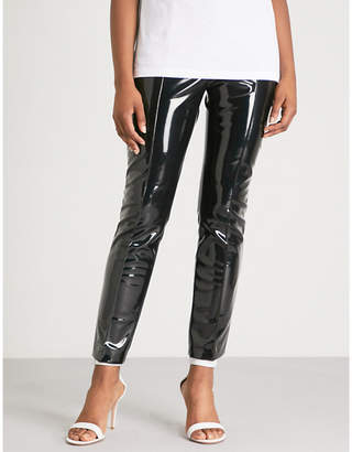 Valentino Skinny high-rise PVC trousers