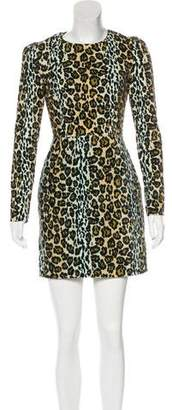 House of Holland Leopard Print Velvet Dress