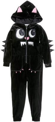 H&M Velour Jumpsuit - Black