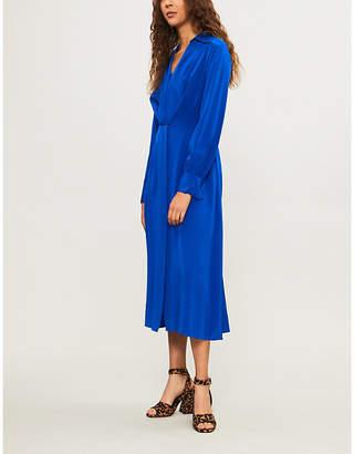 Diane von Furstenberg Tie-front silk-crepe midi dress