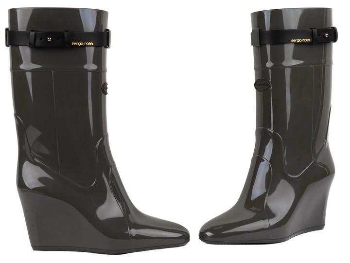Sergio Rossi Wedge Rain Boot