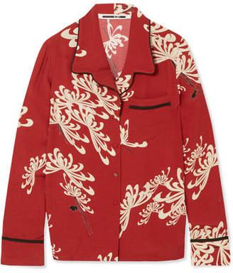 McQ Printed Crepe De Chine Shirt - Red