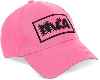 McQ Neon Pink Signature Cotton Baseball Cap
