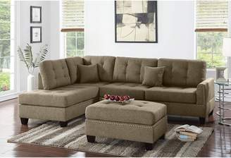 Alcott Hill Romulus Reversible Sectional with Ottoman