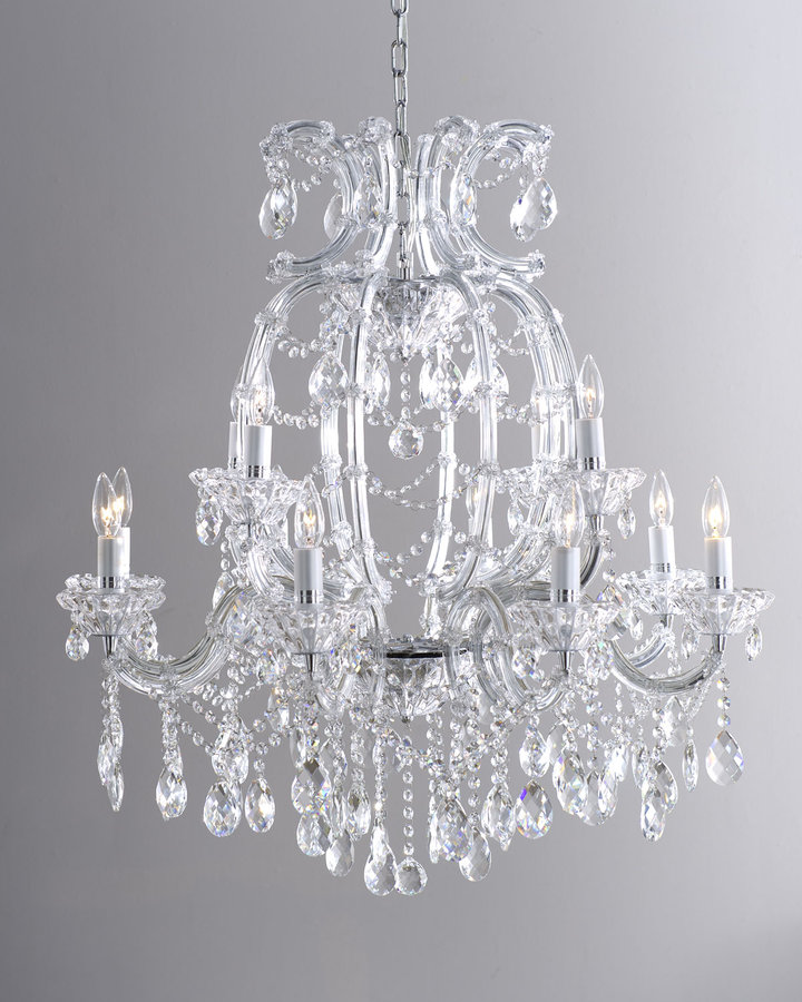 Horchow Clear Crystal Chandelier