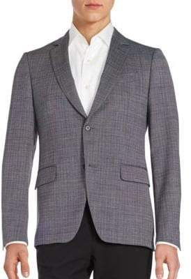 John Varvatos Long Sleeve Front Button Coat