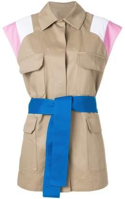 MSGM belted safari waistcoat